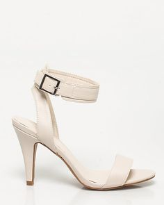 Leather-Like Ankle Strap Sandal - Leather-like cuffed sandals have been spotted strapped at the ankles of the most influential fashionistas.