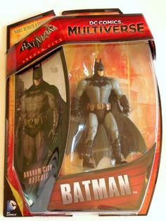 DC Comics Multiverse Action Figure Batman Arkham City Origins Grey Batsuit  #Mattel