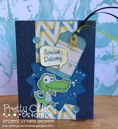 Creative Love Affair: Baby Cards and a Video using Pretty Cute Stamps Birthday Gator and Shimelle's StarShine Collection!