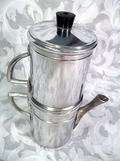 Sold ALUMINUM STOVE TOP FLIP NEAPOLITAN DRIP STYLE COFFEE MAKER MADE IN ITALY