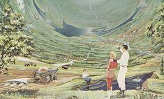 Beyond Astronaut Ice Cream. How sci-fi writers like Arthur C. Clarke imagined we would feed space colonists. (via Slate) New Retro Wave, Retro Waves, Space Colony, 70s Sci Fi Art, Science Fiction Series, Neon Design, Found Object Art, Sci Fi Books, Retro Futuristic