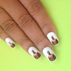 Tupac nail decals