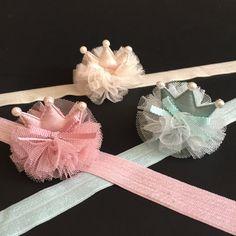Baby Crown HeadbandLittle Girls Glitter by ChloeStudio on Etsy