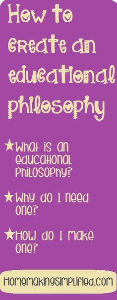 Creating an Educational Philosophy - Free Printables Educational Philosophy for Classroom and Homeschool Teachers