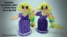 Rainbow Loom Princess Rapunzel Charm/Action Figure - Detachable Skirt & ...