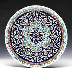 galatabazaar | Rakuten Global Market: Kyutahya pottery-hand dish 30 cm plate Alhambra
