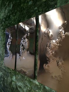 Abstract copper wall sculptures - Laura Poff