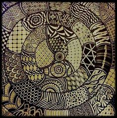 Zentangle? Zendoodle? Anyways, this work of art was created by Meredith Terry