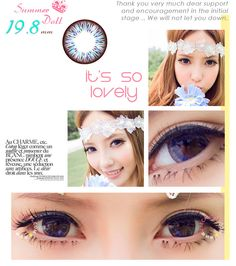 Royal Vision Summer Doll circle color contact lenses - unique pattern with colored flecks to draw light into your eyes.