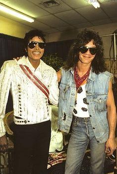 Michael Jackson and Eddie Van Halen