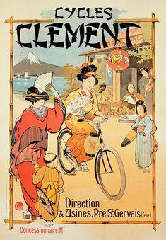 Das+Kunstwerk+Poster+advertising+'Cycles+Clement',+Pre+Saint-Gervais+-+French+School,+(20th+century)+liefern+wir+als+Kunstdruck+auf+Leinwand,+Poster,+Dibondbild+oder+auf+edelstem+Büttenpapier.+Sie+bestimmen+die+Größen+selbst.