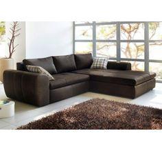 Canapé d'angle vintage Ondigy en tissu  Canapé Mobilier Moss  Iziva