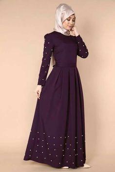 Begendim cok guzel Hijab Dress Party, Hijab Style Dress, Hijab Chic, Abaya Fashion, Muslim Fashion, Modest Fashion, Fashion Dresses, Modele Hijab, Hijab Trends