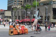 Carte postale de Montréal, Place des Arts, festival Juste pour rire | Christie Cartes $2 christiecartes.com