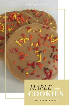 Maple Sugar Cookies with Maple Icing | Money Savvy Living // This cookie is perfect for fall!