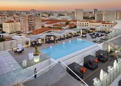 EPIC SANA Lisboa Hotel in Lisbon, Portugal: .Just adjacent to the hotel is the Amoreiras shopping center, one of the best shopping areas in the city known for its breadth of luxury brands and its architecture. Best Hotels In Lisbon, Lisbon Hotel, Lisbon City, Rooftop Pool, Outdoor Swimming Pool, Swimming Pools, Spas, Infinity Pool, Best Rooftop Bars