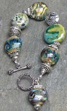 Blue Ridge Bracelet by bdzzledbeadedjewelry on Etsy