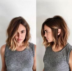 Chopped long bob hairstyles are super cute!