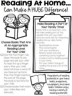 Reading At Home - Tips For Parents
