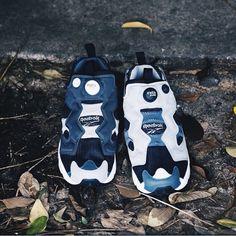 sneaker/reebok×beams/white&black