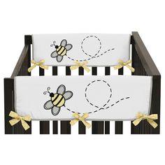Sweet Jojo Designs Honey Bee Side Crib Rail Guard Covers (Set of 2) - Yellow