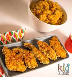 Delicious crunchy oat and sesame chicken strips the whole family will love! Kid friendly and super crunchy, and very versatile! Chicken Strips, Sesame Chicken, Oats Recipes, Gluten Free Chicken, Toddler Meals, A Food, Yummy Food, Cooking, Healthy