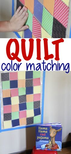 Quilt Color Matching inspired by the book Llama Llama Red Pajama.