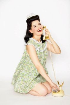 Dottie Babydoll 1950s 1960s Cotton Babydoll by TheDomesticDame, $69.00