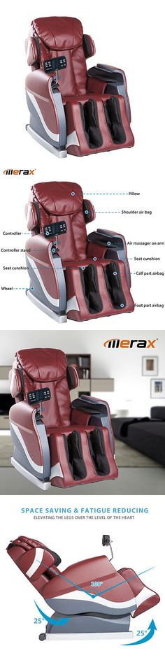 Electric Massage Chairs: Merax Electric Full Body Shiatsu Massage Chair Foot Roller Recliner W/Heat Red BUY IT NOW ONLY: $569.75