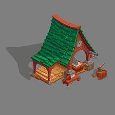 ArtStation - concepts of houses, Serge Samsonov
