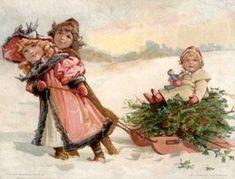 Nostalgische weihnachtsbilder gratis