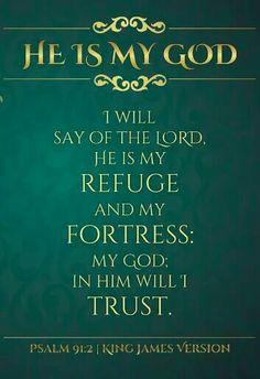Psalm 91:2 KJV King James Bible Verses, Scripture Verses, Bible Scriptures, Bible Quotes, Religious Quotes, Spiritual Quotes, Positive Quotes, Healing Words, Bible Prayers