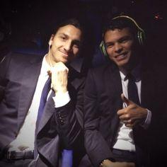 Thiago Silva and Zlatan Ibrahimovic  PSG