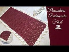 YouTube Crochet Table Mat, Needlework, Elsa, Activities, Rugs, Youtube, Bb, Crochet Carpet, Rectangular Rugs