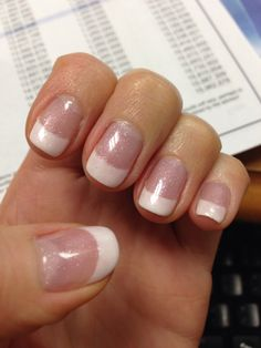 Glitter French manicure (opi princesses rule)