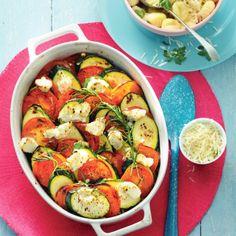 Courgette-tomatenschotel met ricotta