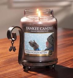 Warm Woolen Mittens   Yankee candle  Love the holder too!
