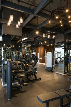 Kiev fitness club gym interior gym design, gym interior и ho Gym Interior, Studio Interior, Interior Design, Le Hangar, Gym Lighting, Design Exterior, Home Gym Design, Gym Decor, Gym Room