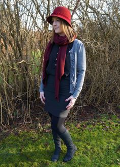 Look of the day: Black, Grey and Bordeaux