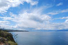 Widok z Olchonu na Małe Morze. Baikal Lake Olkhon Island
