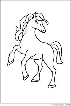 Malvorlage - Pferd