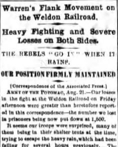 Genealogical Gems: Over a thousand men captured at Weldon Railroad
