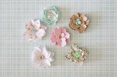 petite paper flowers {DIY}