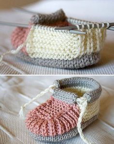 Knitted Baby Booties This knit pattern / tutorial is available for free. Knitted Baby Booties This knit pattern / tutorial is available for free. Full Post: Knitted Baby Booties Always aspire. Baby Booties Knitting Pattern, Baby Shoes Pattern, Crochet Baby Shoes, Crochet Baby Booties, Baby Patterns, Knit Patterns, Baby Bootees, Baby Knitting Patterns Free Newborn, Knitted Baby Boots