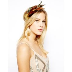 And Mary Brown Feather Headband