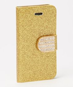 Love this Gold Glitter Flip Case for iPhone 4/4s by Yuka Paris on #zulily! #zulilyfinds