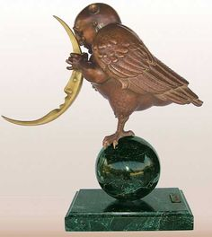 "Parkes, Michael ""Moonbird -  Bronze Sculpture"""