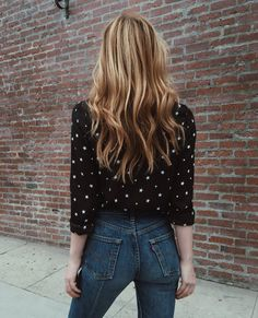 look jeans + poá