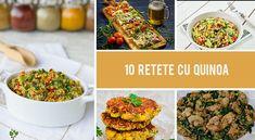 Iata 10 retete cu quinoa care sunt bogate in proteine, sanatoase si mai ales delicioase! Descopera-le in acest articol! >>> Quinoa, Mai, Superfood, Vegan, Kitchen, Salads, Cooking, Kitchens, Cuisine