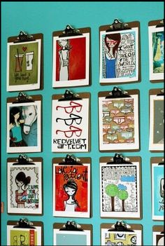 Placing clipboards on the wall would be a stellar way to give back the student's…